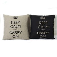 bench cushions - Retro Home Bench Decorative Throw Pillow Cushion Case Cotton Linen Crown Cover New