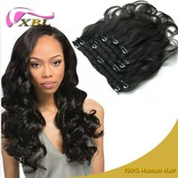 Wholesale Human Hair Clip Ins For Black Hair Remi Clip In Human Hair Extensions G Real Human Hair Extensions Clip In