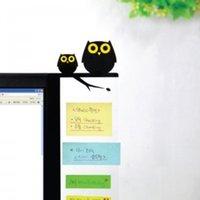 Wholesale Korea cartoon stationery wallstory computer monitors message boards sticky side plate Owl cm