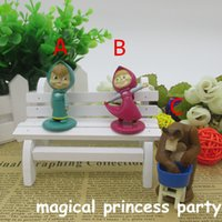 bear figurines - masha and the bear cake topper figurines