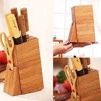 bamboo tool rack - high quality kitchen tools holder knife rack shelf storage rack kitchen supplies bamboo knife block bamboo knife rest