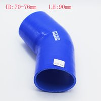 Wholesale RS MTX Universal ID mm Silicone degrees reducing the intake elbow Coupler Silicone hose silicone reducer elbow