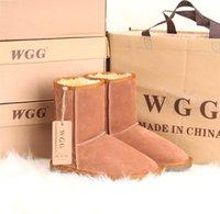 De alta qualidade Novos Mulheres WGG botas quentes curto clássico da neve botas populares Austrália couro genuíno Meio Botas US5 - US10 Frete Grátis