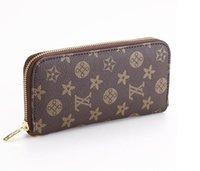 Wholesale High Quality PU Faux Leather Women Long Purse Zipper Wallet Card Holder Phone Case Designer Purses For Women