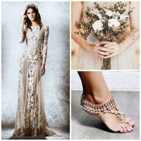plus size prom dresses - 2015 Zuhair Murad Prom Dresses With Long Sleeves Sheer Neck Appliques Lace Tulle Long Plus Size Backless Evening Gown Beach Wedding Dress