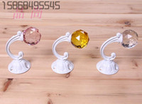 Wholesale Crystal shop fitting clothing hooks single hook point hanging on the wall hanging clothes hanger rack shelf