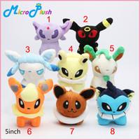 Wholesale 8 styles inch Pocket Pikachu Plush Toys Umbreon Eevee Espeon Jolteon Vaporeon Flareon Glaceon Leafeon Plush doll stuffed Toys