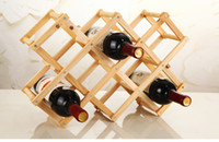 Wholesale Folding wood wine rack wine bottle holder Storage Organizer beer wisky Holder Display stand bar Accessories home decor