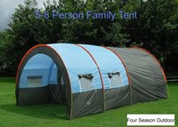 party tent - Outdoor Persons Family Camping Hiking Party Large Tents Hall Room New Tunnel Style