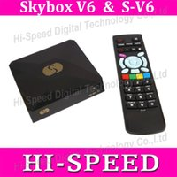 Wholesale 20PCS Original Skybox V6 S V6 Satellite Receiver TV Box Support USB WEB TV Card Sharing Youtube S V6
