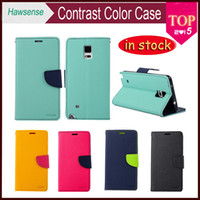 TPU alpha card - Contrast Color Leather Case For Samsung GALAXY S7 Edge S6 NOTE Alpha S5 S4 Mini A5 A7 J5 J7 A8 iPhone MERCURY Wallet Flip Cover