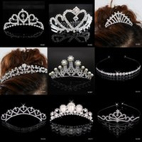 Rhinestone/Crystal bridal tiara - 2015 Cheap New Bridal Rhinestone Crystal Cocktail Homecoming Party Prom Dresses Crown Bridal Tiaras Hair Accessories Best Discount