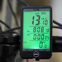 Wholesale Wired Stopwatch Digital Waterproof Odometer Velometer Bicycle Speedometer Backlight Multifunction Large screen Bike Computer