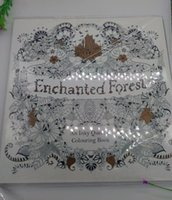 Wholesale Christmas gift Enchanted Forest Secret Garden An Inky Quest Coloring Book For Relieve Stress Graffiti Painting Drawing Book