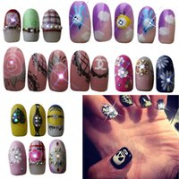 Wholesale Mobile Sensors NFC Nail Stickers Blinking Nail Art Stickers With LED Light Flash Red Blue White light Emitting Option