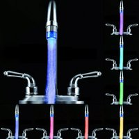 Wholesale NEW Water Glow Color Changing LED Faucet Temperature Control Sensor Faucet Tap Min Kitchen Bathroom Accessories