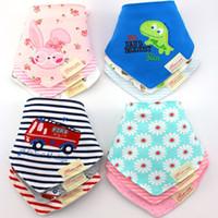 baby smock - 45 Pattern Cute Cotton Baby Towel Toddler Newborn Triangle Scarf Babero Girls Feeding Smock Infant bibs Burp Cloths