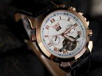 Prezzi Orologi jaragar-2015 di cuoio di vendita calda del nuovo Mens Vigilanza dorata meccanica Numero Dive Mens data orologi automatici Moda Sport Luxury polso JARAGAR