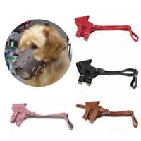 Wholesale Leather Dog Muzzle M Size Pet Adjustable Dog Muzzle Prevent Bite Dog Mouth Mask