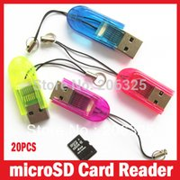 Wholesale MINI card reader for micro SD USB Card Reader per high speed USB Free Drop Shipping order lt no tracking