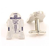 Wholesale Star Wars Cufflinks for Men R2D2 Stormtrooper Fashion Cuff Links Jedi Knight Darth Vader AT AT Novelty Cufflinks Men Jewelry Cuff Links