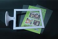 Wholesale 128 mm Vertical Double Sides Bisiness Sign Frame Stand Art Frame Round Pedestal Advertising Display Menu Display for Hotel Bar