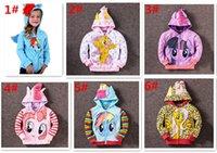 Wholesale hot sale deisngs Children outerwear My little pony Sweater hoodies sportswear boys girls Cartoon Hooded coat clothes hoody jacket D449