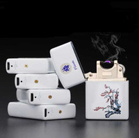 Wholesale Hot sales New Latest Arc Pulse Charging Usb Charging Lighter Windproof Lighter Ultra thin Porcelain Cigarette Lighter