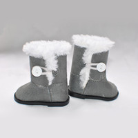 Wholesale factory price Environmental protection quot INCH DOLL SHOES for AMERICAN GIRL plush gray boots a124