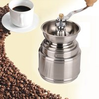 Wholesale Handmade Handy Spice Coffee Bean Pepper Grinder Stainless Steel Grinder with Ceramic Core Coffee maker A3