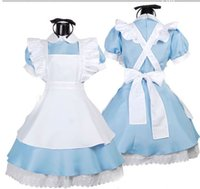 Wholesale Alice In Wonderland Fantasy Blue Light Tone Lolita Maid Outfit Maid Loaded Maid Costumes Fitted Singer Cosplay Sexy Costumes Occupational Cl