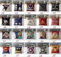 Wholesale DHL Free European Throw Pillow Cases Star Wars Pillow Covers Cartoon Minions Cushion Covers Linen Christmas Pillow Case Cushion Cover