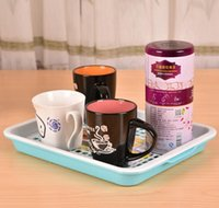 Wholesale Double Layers Drain Tea Tray Multi draining Coffee Tray Organizer Pierced Wine Fruit Vegetable Holder Rack