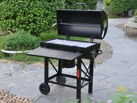 bbq wheels - Heavy duty two wheel tube BBQ party bbq grill charcoal