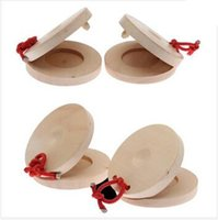 Wholesale 100pcs CCA1995 Wooden Roundelay Castanets Music Teaching Instrument Children Preschool to improve children musicality Early Education
