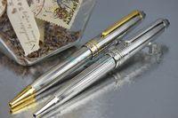 MB-163 Meisterstuck alta calidad Oficina Escuela papelería Plata / Golden clip con plata de alambre de acero dibujo bolígrafo