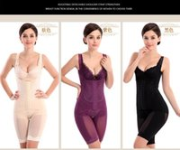Bodysuits bamboo bodysuit - Hot Intimates Full Body Shaper Corset Bamboo Underwear Waist Training Corsets Bodysuit Shaperwear Girdles Body Shapers For Women