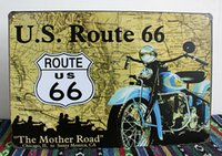 Wholesale The Mother Road ROUTE vintage tin signs retro painting nostalgic souvenirs metal crafts home decoration metal wall art decor