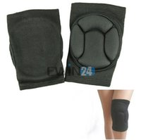 Wholesale Sport Black Durable Sponge Knee Shin Protector Protection Guard Pads Kneepad New and Hot Selling pairs