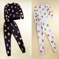 Cheap Brand Emoji Sweatshirt And Trousers 2015 New Emoji Sweat Suit Quality Emoji Joggers and Sweatshirt Joggers Set Emoji Outfits For Girls Women