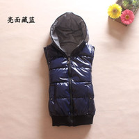 Wholesale Lovers design reversible with a hood thickening women s cotton vest waistcoat autumn and winter plus size available M XXL