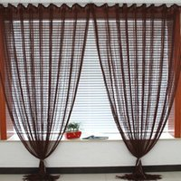 Wholesale New Solid Line String Window Curtain Tassel Door Room Divider Scarf Valance x2M