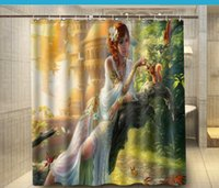 artistic shower curtains - Artistic Women Butterfly squirrel Fashion Shower Curtain x180cm Waterproof Mouldproof Shower Curtain Decor Bathroom