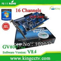 Others   Hot selling video card GV800(V8.4) Hardware V3.53 16CH Support Win7 32bits iphone GV DVR Card