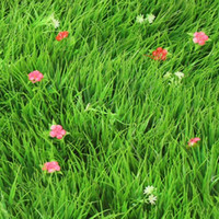 artificial grass mat - Plastic Synthetic Lawn Simulation Turf Artificial Lawn With Flower Grass Mat Boxwood Mat For Garden