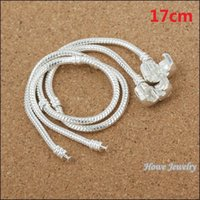 Wholesale Snake chain Bright Silver Bracelets fit Europen Charms beads Sterling Silver European Bead snake chain mm