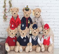 bearing guard - 2016 cm Coast guard bear stewardess bear Toys Teddy Bear Dolls Plush Toys kawaii Gifts For Children Girls