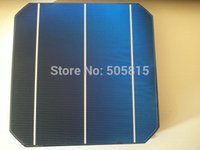 Wholesale 40pcs Monocrystalline solar cell A grade mm mm monocrystalline solar cell W W