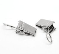 Wholesale Cute metal Mini x30PCs Silver Tone Strap Clips x15mm quot x5 quot