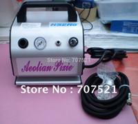 tatoo airbrush compressor de ar, bomba de maquiagem escova de ar desconto, portátil oilless mini-pistão silenciosa AC 220V, Haosheng AS176